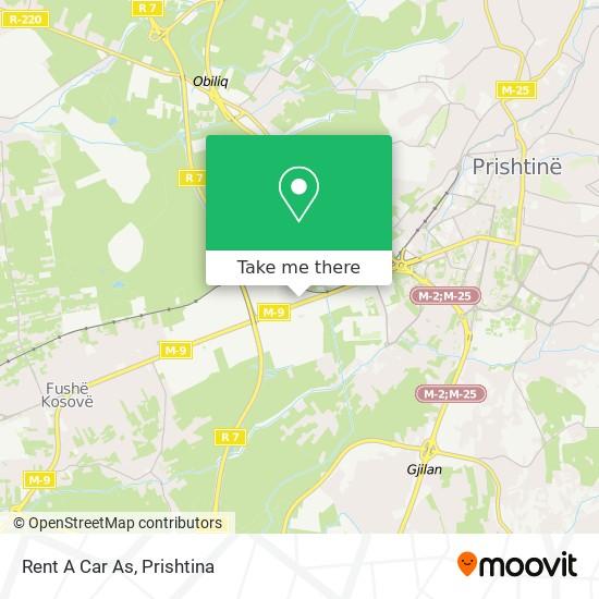 Rent A Car As map