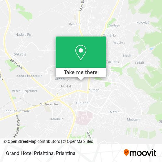 Grand Hotel Prishtina map