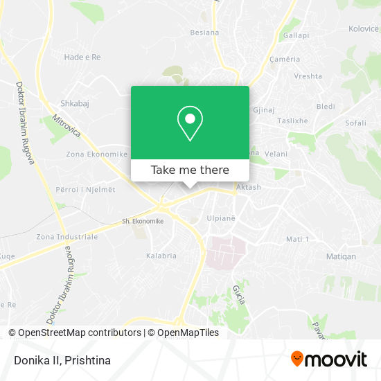 Donika II map