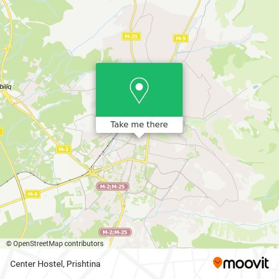 Center Hostel map