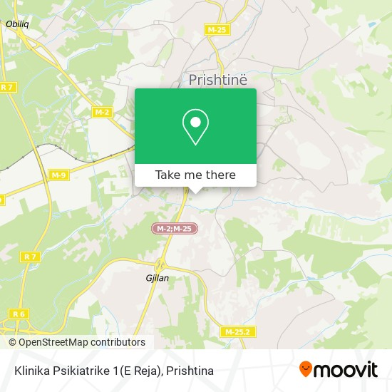 Klinika Psikiatrike 1(E Reja) map