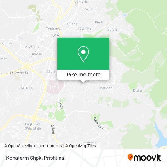 Kohaterm Shpk map