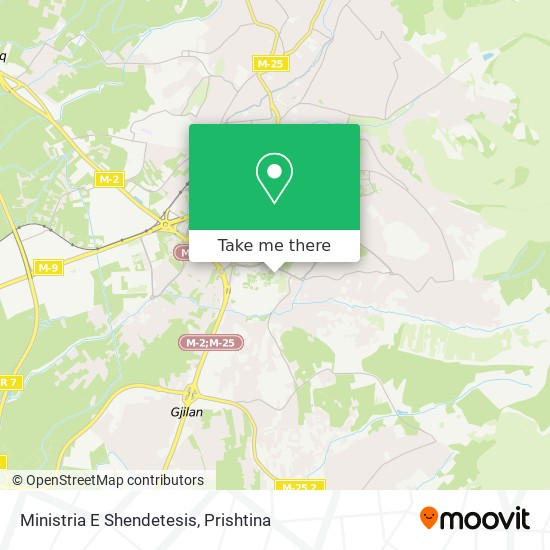 Ministria E Shendetesis map