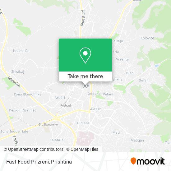 Fast Food Prizreni map