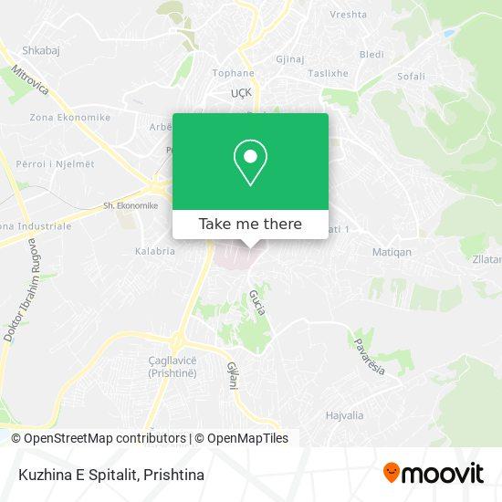 Kuzhina E Spitalit map