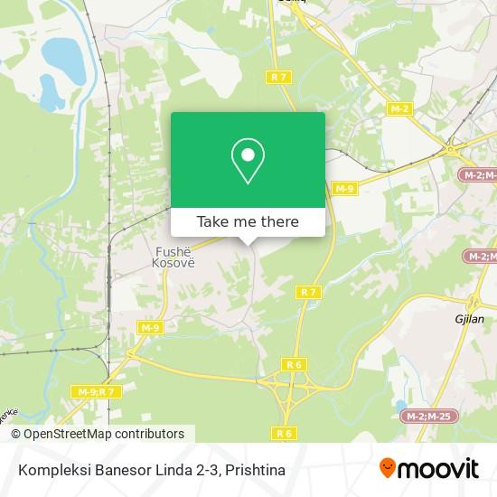 Kompleksi Banesor Linda 2-3 map
