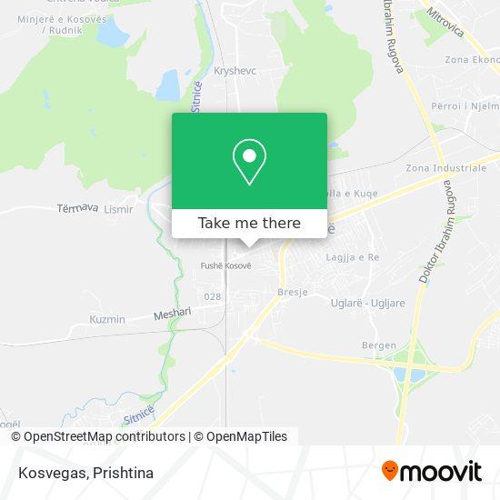 Kosvegas map