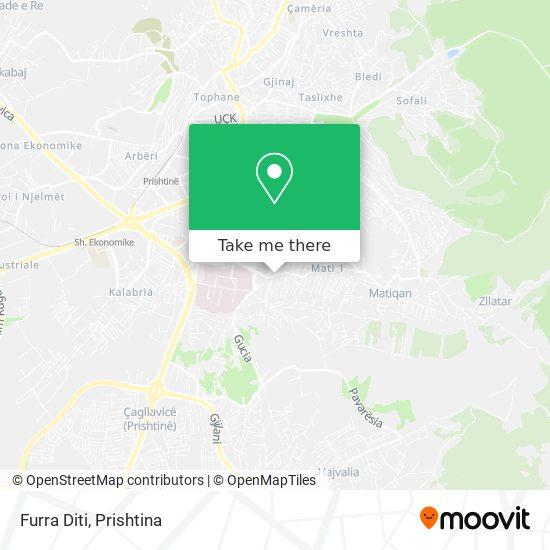 Furra Diti map