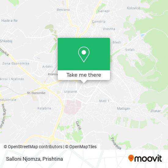 Salloni Njomza map