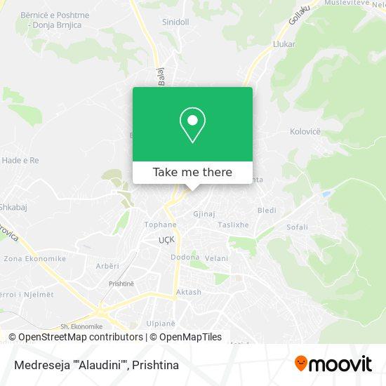 "Medreseja """"Alaudini"""" map"