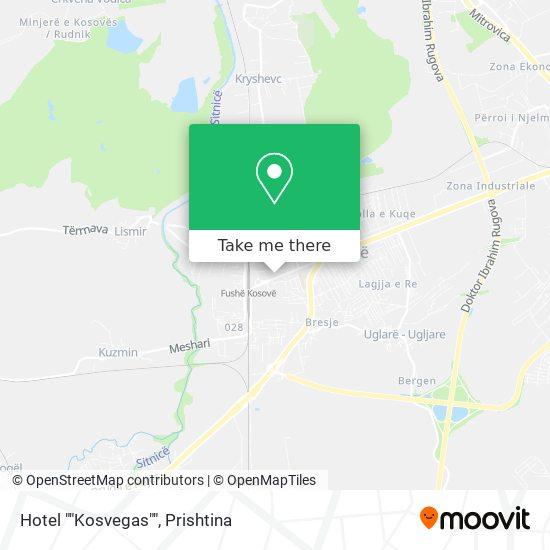 """Hotel """"""""Kosvegas"""""""" map"""
