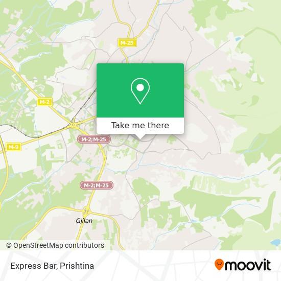 Express Bar map