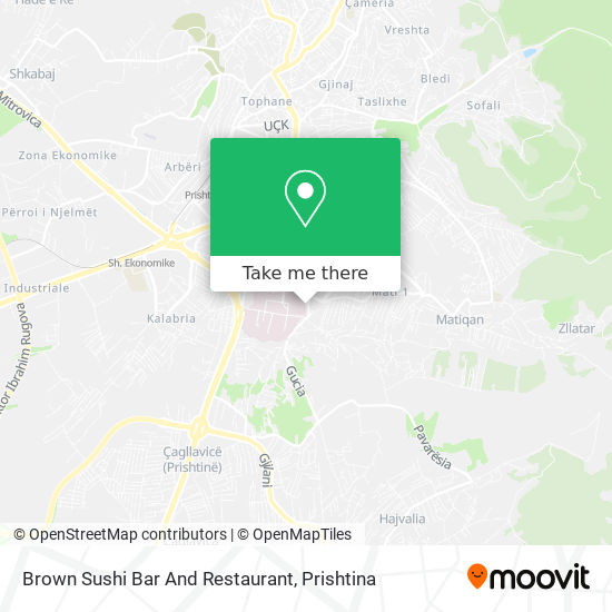 Brown Sushi Bar And Restaurant map