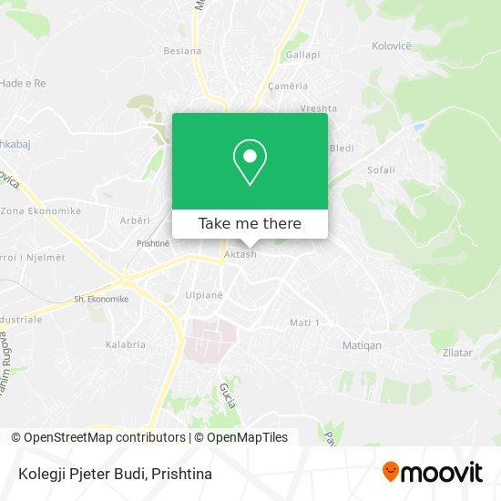 Kolegji Pjeter Budi map