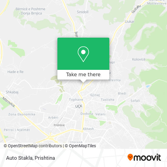 Auto Stakla map