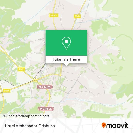 Hotel Ambasador map
