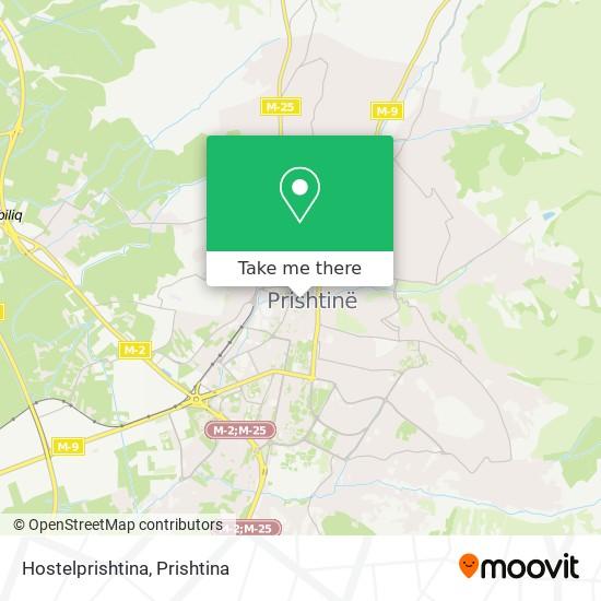 Hostelprishtina map