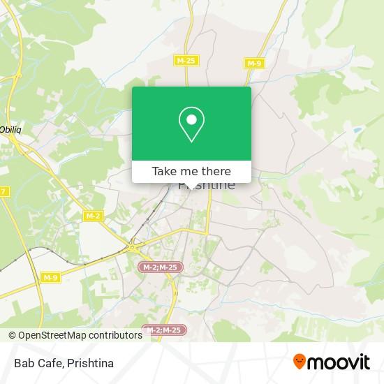 Bab Cafe map