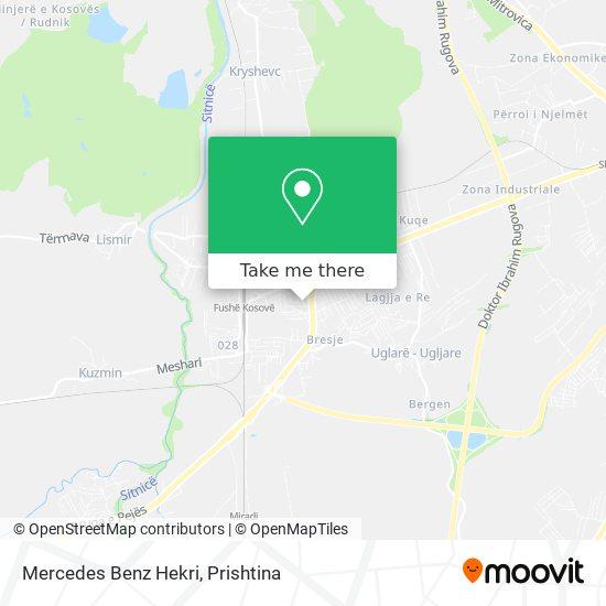 Mercedes Benz Hekri map