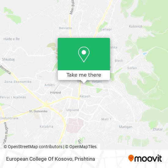 European College Of Kosovo map
