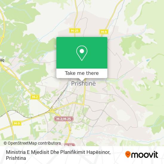 Ministria E Mjedisit Dhe Planifikimit Hapësinor map