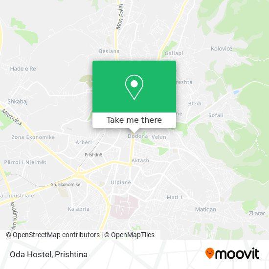 Oda Hostel map