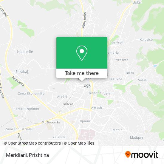 Meridiani map