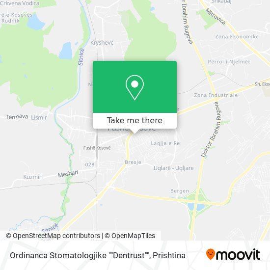 "Ordinanca Stomatologjike """"Primadent"""" map"