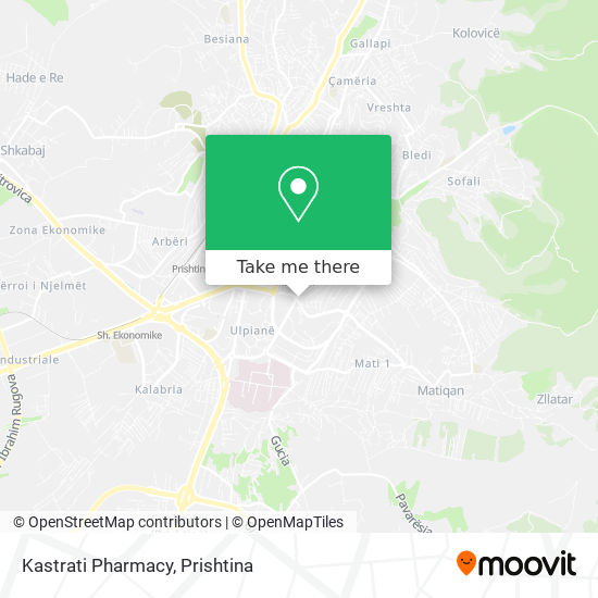 Kastrati Pharmacy map