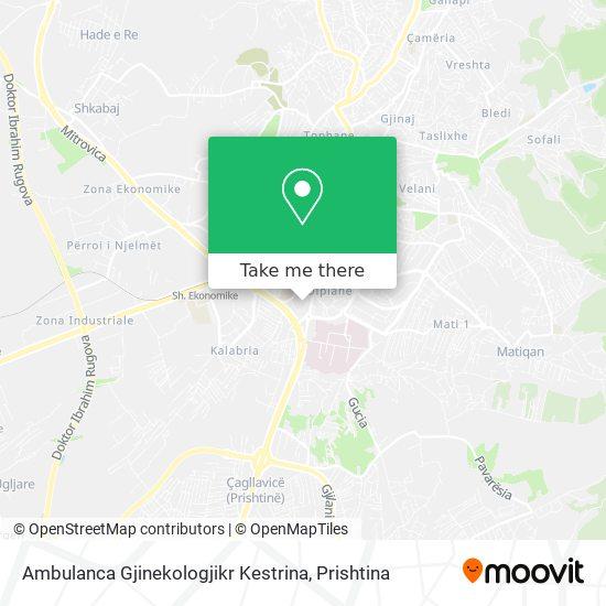 Ambulanca Gjinekologjikr Kestrina map