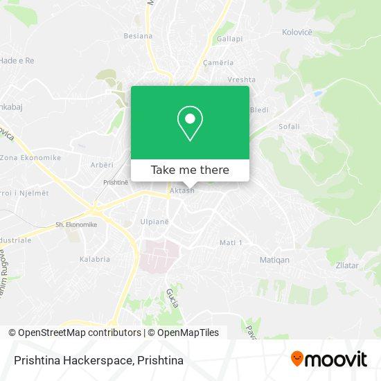 Prishtina Hackerspace map