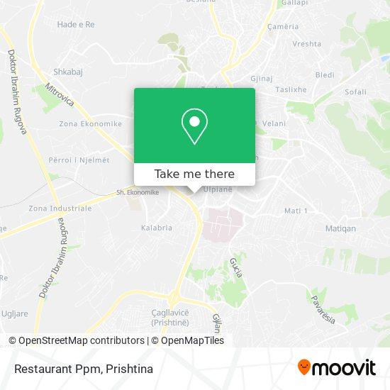 Restaurant Ppm map