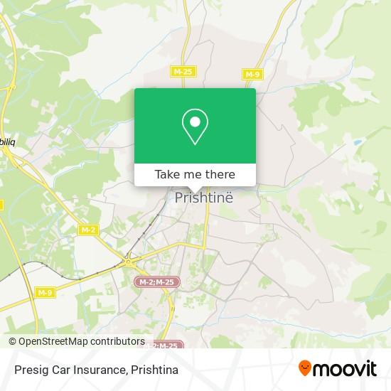 Presig Car Insurance map