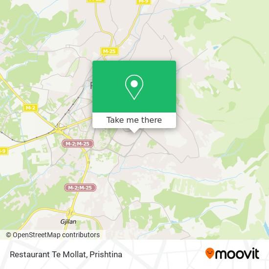 Restaurant Te Mollat map