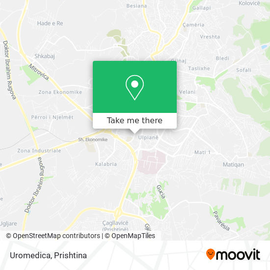 Uromedica map