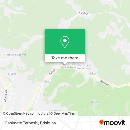 Ganimete Terbeshi map
