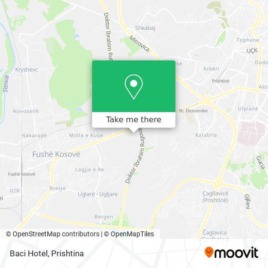 Baci Hotel map