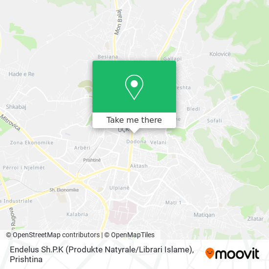 Endelus Sh.P.K (Produkte Natyrale / Librari Islame) map