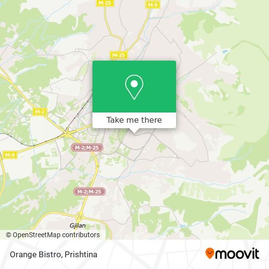 Orange Bistro map