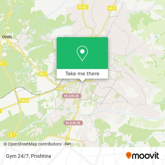 Gym 24/7 map
