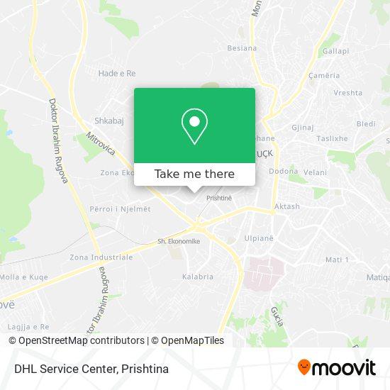 DHL Service Center map