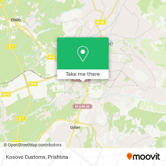 Kosovo Customs map