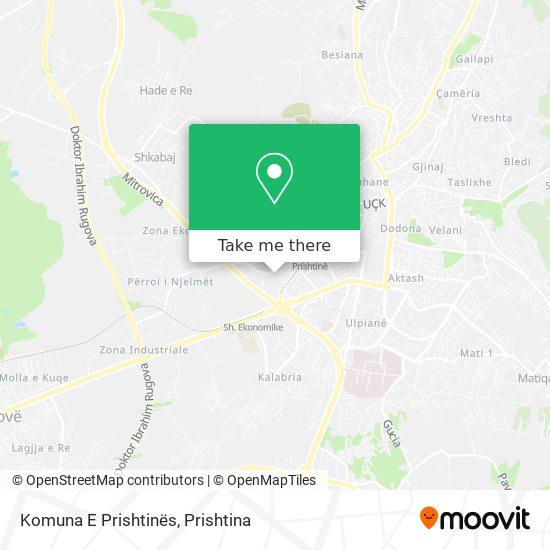 Komuna E Prishtinës map