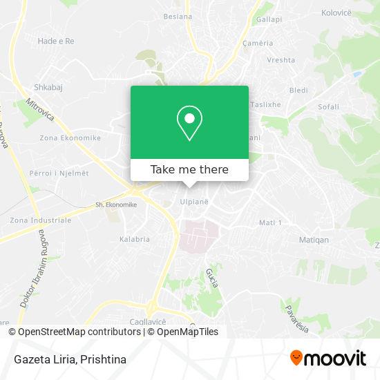 Gazeta Liria map