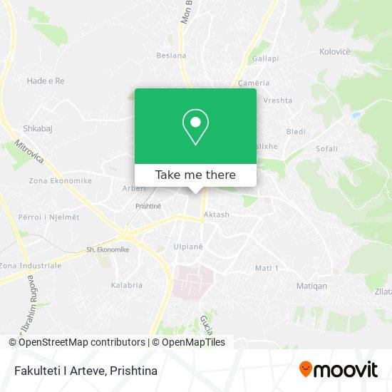 Fakulteti I Arteve map