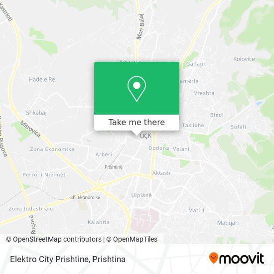 Elektro City Prishtine map