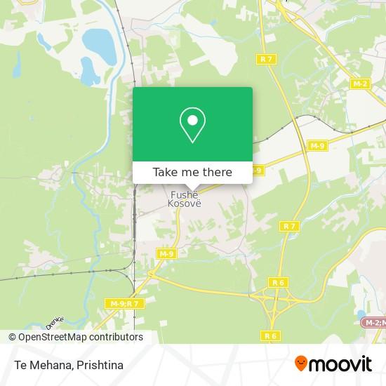 Te Mehana map