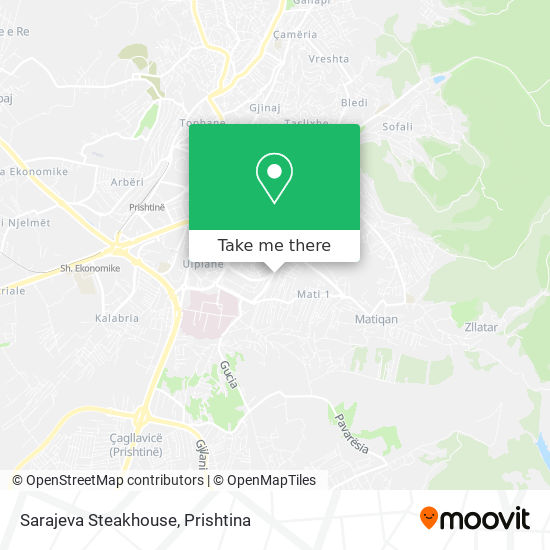 Sarajeva Steakhouse map
