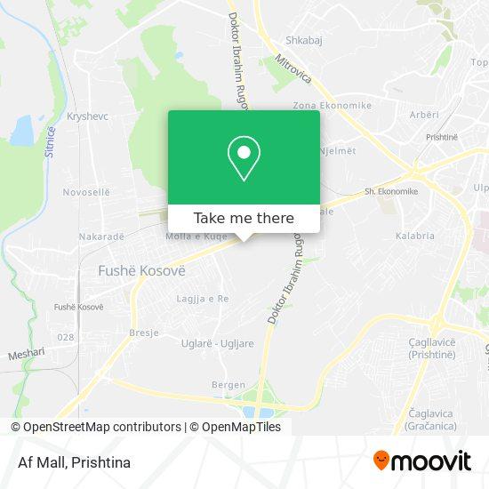 Af Mall map