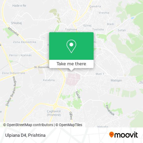 Ulpiana D4 map